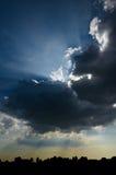 promienia słońce Fotografia Stock