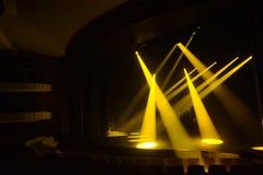 Promienie światło na ciemnym tle Zdjęcie Stock