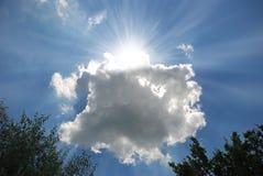 promienie chmurnieją słońce fotografia royalty free
