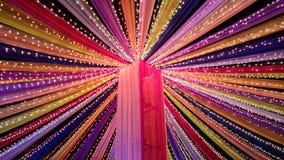 Promienie colour rozrzucanie w zmroku zdjęcia stock