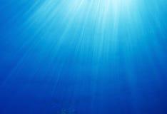 promienie sun underwater Obrazy Royalty Free