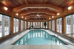 promienie target172_1_ pływackiego basenu drewno Fotografia Royalty Free
