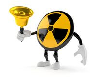 Promieniotwórczy charakteru mienia ręki dzwon ilustracja wektor
