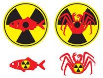 promieniotwórczy owoce morza royalty ilustracja