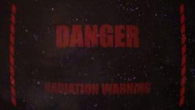 Promieniotwórczy Raźny sygnał na Starym Brudzi ekran zbiory wideo