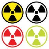 Promieniotwórczy symbol w płaskim projekcie Zdjęcia Royalty Free