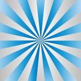Promieniowa Gradated lampasów Popielata tekstura w Błękitnym tle ilustracja wektor