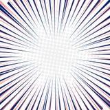 Promieniowa prędkość wykłada szybkiego ruchu tło z okręgami halftone ilustracja wektor