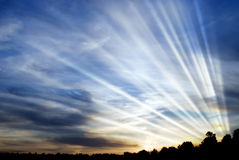 promieniowania słońce Zdjęcia Stock