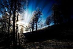 promieniowania słońce Zdjęcie Stock