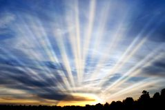 promieniowania słońce Obrazy Royalty Free