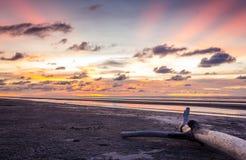 Promieniowanie Pantai Mukah Zdjęcia Royalty Free