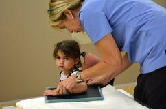 Promieniowanie rentgenowskie - dzieci fotografia stock