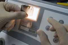 Promieniowanie rentgenowskie ludzcy zęby fotografia royalty free