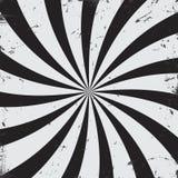 Promieniowego promienia grunge czarny i biały tło ilustracja wektor