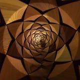Promieniowy Drewniany trójboka wzór Zdjęcia Royalty Free