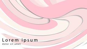 Promieniowy pluskoczący curvy tło Delikatna mauve wir powierzchnia z przestrzenią dla teksta Apetyczny dżem soczysty owoc róży ko ilustracji