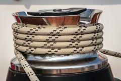Promieniowy winch dla żeglowanie łodzi Zdjęcia Royalty Free