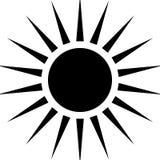 Promieniujący kurendę wykłada abstrakcjonistycznego monochromatycznego symbol na bielu (Ca ilustracji