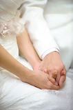 A Promise. A silent lifetime commitment in wedding Stock Images