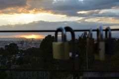 The promise dusk and padlock2 Royalty Free Stock Photo