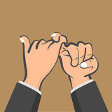 Promise hands. Vector illustration, Flat and minimal design Stock Photography