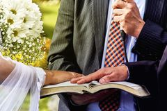 Oath at the wedding Royalty Free Stock Photos