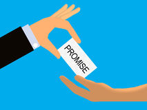 Promise or Promissory Note Royalty Free Stock Image