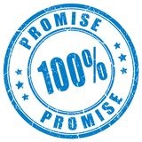 Promise rubber vector stamp. Isolated on white background Royalty Free Stock Photography