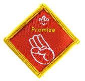 Promise - Scout activity badge. Promise, scout activity badge on the white background Royalty Free Stock Images