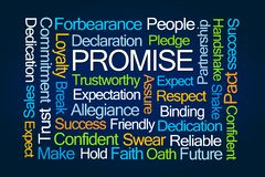 Promise Word Cloud stock image