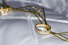 Promise2. Ready wedding rings close up stock image