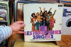 Promised Land. THE NETHERLANDS - AUGUST 2015: LP record of The Les Humphries Singers a 1970s musical group formed in Hamburg, Germany, in a second hand store Stock Photos