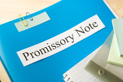Promissory note Stock Images