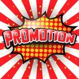 Promoção, bolha cômica do discurso Vetor Imagem de Stock