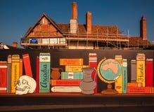 Promoção da leitura - restauração do lugar de nascimento de Shakespeare fotografia de stock
