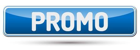 PROMO - Abstrakt härlig knapp med text Arkivbild