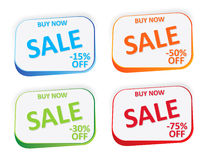 Promo badges. For web sales Stock Image