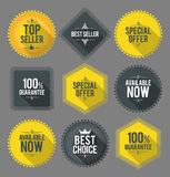 Promo badges and labels Royalty Free Stock Photo