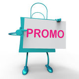 Promo Bag Shows Discount Reduction Or Save Stock Photography