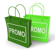 Promo Bags Show Discount Reduction or Sale Royalty Free Stock Photography