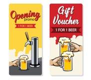 Promo-Bier-Geschenkgutschein lizenzfreie abbildung
