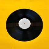 Promo blanc d'étiquette d'enregistrement de vinyle photographie stock libre de droits