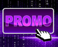 Promo Button Means World Wide Web And Network Royalty Free Stock Photography