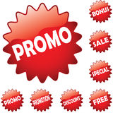 Promo buttons Royalty Free Stock Photography