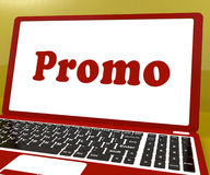 Promo Computer Shows Promotion Discounts And Reductions Stock Photo