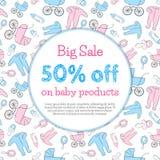 Promo de los productos del bebé Fotos de archivo