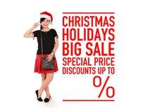 Promo di vendita di feste di Natale grande Immagini Stock Libere da Diritti