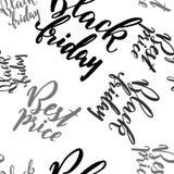 Promo disegnato a mano dell'iscrizione per Black Friday Fotografie Stock Libere da Diritti