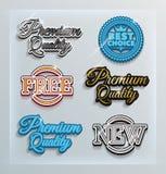 Promo etykietki Zdjęcia Royalty Free